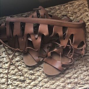 Brown lace up Gladiators